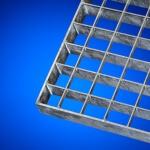 Rejilla metálica acero galvanizado para el suelo