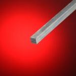 Hierro cuadrado macizo aluminio 12x12 mm