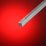 Hierro cuadrado aluminio 12x12 mm