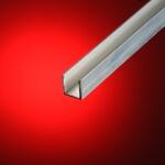Perfil aluminio en U 50x100