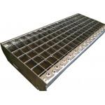 Escalón rejilla acero galvanizado para el suelo