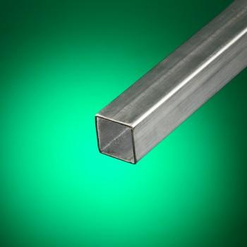 Tubo cuadrado acero inoxidable cepillado 25x25 mm