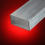 Tubo rectangular aluminio 100x20 mm